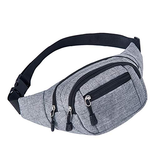 ZhHaoXin Motion Bum Bag Canvas Stof Hardware Pull Head Design, Dubbele Voorvak, Kan meer spullen, Opslag Is Handiger