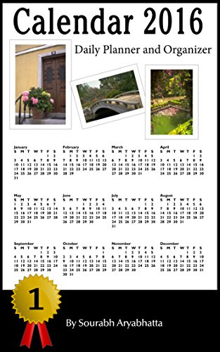 Calendar 2016: Daily Planner and Organizer (US Calendar) (English Edition)