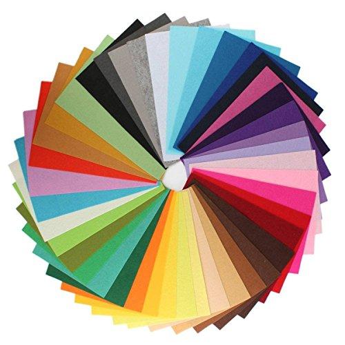 Zedtom 42 Colori Feltro in Fogli DIY Tessuto Poliestere per Cucire Mestieri Stoffa Patchwork 20cm*30cm