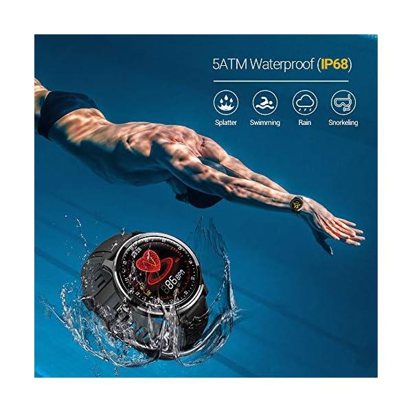 NACATIN SmartWatch, Reloj Inteligente Impermeable IP68, Bluetooth Relojes Deportivos Pantalla t¨¢ctil Completa, Pulsera… 5