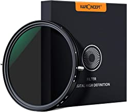 K&F Concept 82mm Variable Fader ND2-ND32 ND Filter and CPL Circular Polarizing Filter 2 in 1 for Camera Lens No X Spot Wea...