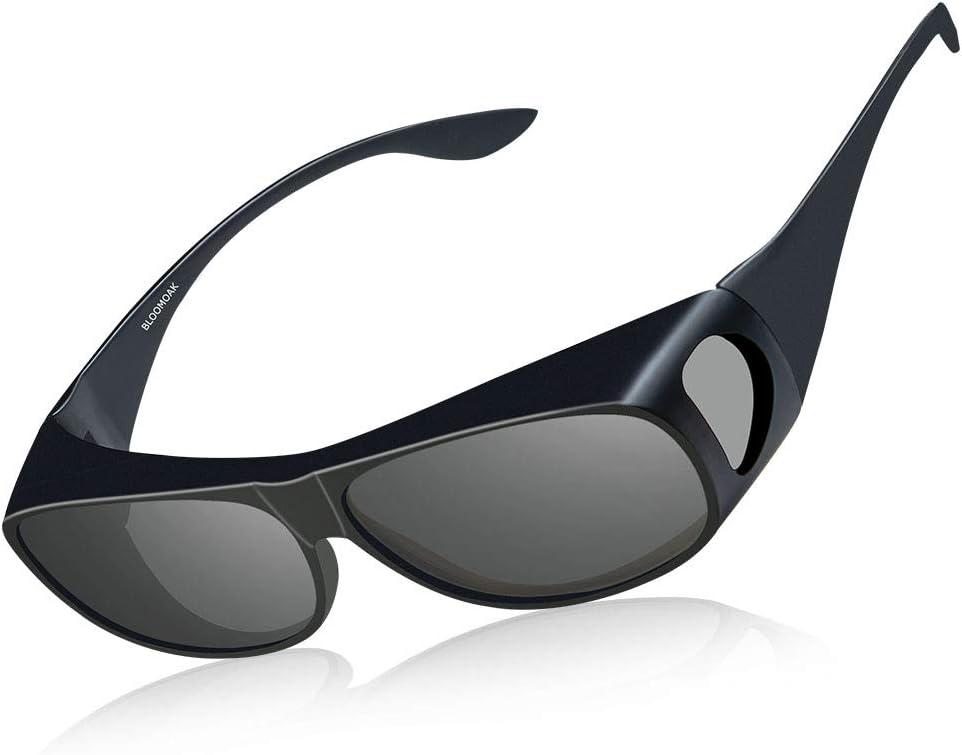 Bloomoak Gafas para llevar sobre los lentes, para hombres y mujeres, gafas de prescripción para conducir, antirreflejos y protección UV 400, informática. negro Day Sunglasses