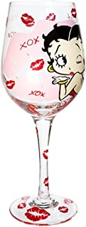 betty boop wine glass set