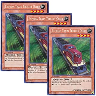 š 3 Piece Set š Yugiohwa English Version DRLG-EN 037 Express Train Trolley Olley (Secret Rare) 1st Edition