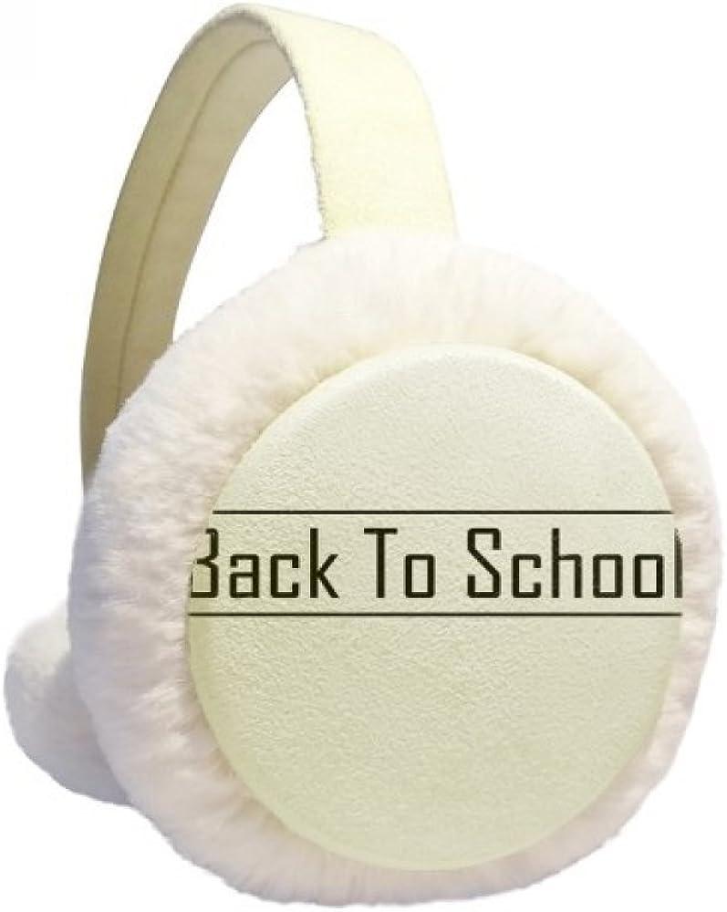 Back to School Winter Ear Warmer Cable Knit Furry Fleece Earmuff Outdoor