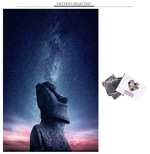 QWESD Starry Night Puzzle 1000 Piezas Paisaje Rompecabezas Personalizado Adultos Mundo Natural Paisaje Bricolaje Juguete