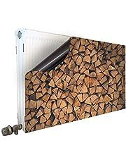 Smagnon Magnetische radiatorombouw radiatorafdekking verwarmingsomlijsting radiator - motief hout wit