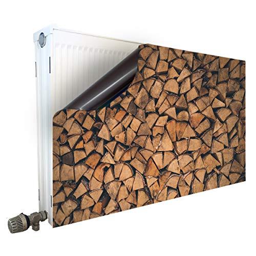 Smagnon Magnet Heizkörperverkleidung Heizkörperabdeckung Heizungsverkleidung Heizkörper - Motiv Holz, Heizkörper Höhe:30 cm, Heizkörper Länge:90 cm