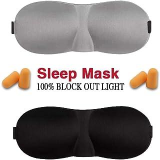 TBONEEY Antifaz para Dormir, 2 Piezas 3D Contoured