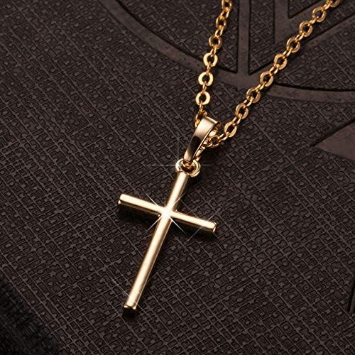 Kdyi Fashion Female Cross Pendants Gold Black Color Necklace Jewelry For Men/Women Wholesale Crystal Jesus Cross Pendant