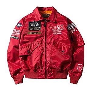 SemiAugust(セミオーガスト)アウター メンズ フライトジャケット ma-1 ブルゾン ワッペン ミリタリー ジャケット ナイロン ジャンパー エムエーワン 春服 red3XL