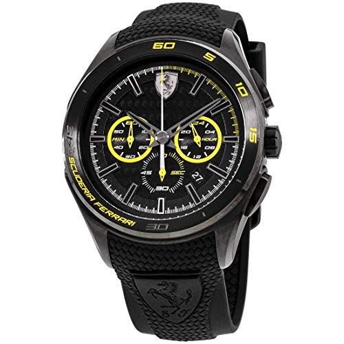 Scuderia Ferrari Reloj Analógico para Hombres de Cuarzo con Correa en Silicona 830345