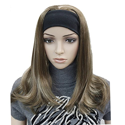 Lydell Long Straight Wave Headband Synthetic Wigs (12TT26 Brown Highlighted)