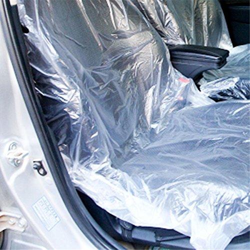 ECYC Coprisedile in Plastica Monouso per Auto 50 Pezzi