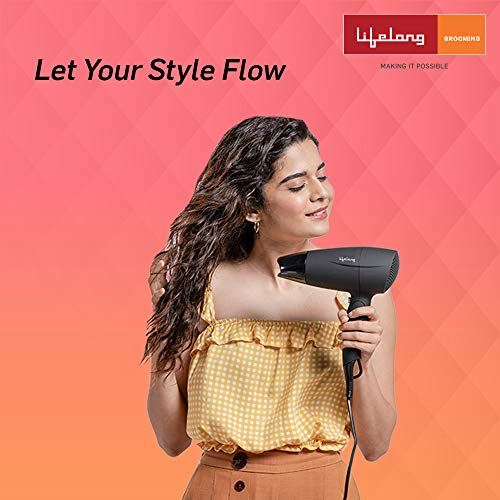 Lifelong LLPCW08 Professional Cool Shot Foldable Hair Dryer 1600W