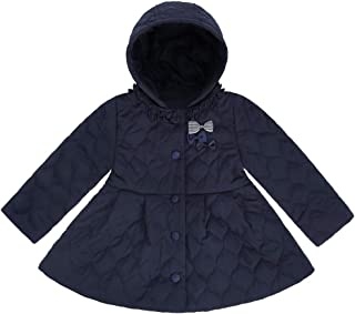 Toddler Girls Winter Coats Quilted Barn Jacket with Removable Hood Windproof Warm Bubble Coat for Kids Lightweight Fashion Casual Outwear