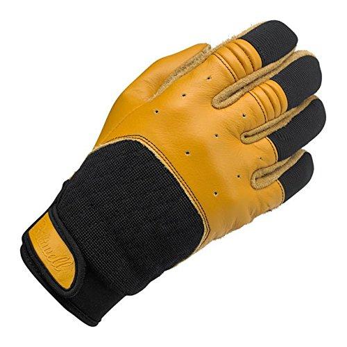 Handschuhe Leder Bantam schwarze/Gelbe Biltwell Herren Biker Biker Custom M Nero / giallo