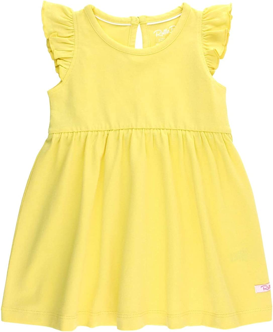 RuffleButts Baby Today's only Toddler Girls Sleeveless Knit with Branded goods Dress Ruffle
