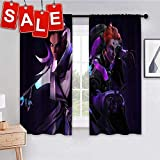 Window Draperies Sombra and Moira Overwatch 5k ps Blackout Curtains for Bedroom 63x45 inch
