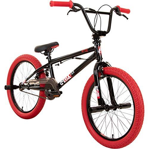 20' BMX deTOX Freestyle Kinder Neu Anfänger ab 130 cm, 7 J., Farbe:schwarz / rot