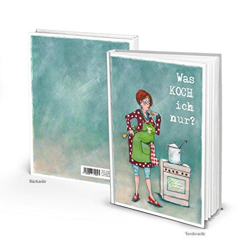 Eigenes großes XXL Kochbuch zum Einschreiben selberschreiben Rezeptbuch für Rezepte blanko leere weiße Seiten Geschenk Küche Muttertag Barbara Freundlieb Design