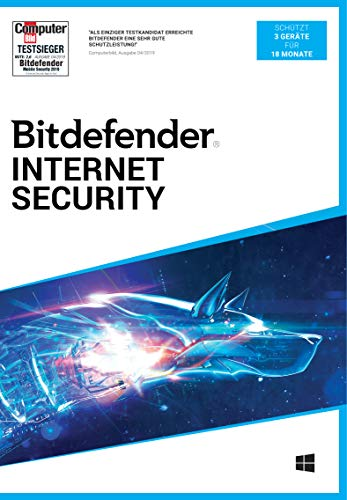 Bitdefender Internet Security 2021 3 Gerät / 18 Monate (Code in a Box)|Standard|3|18 Monate|PC|Download