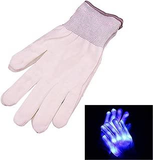 Fornateu 1 Paar LED-Handschuhe Finger-Licht Handschuhe mit bunten Rave Flashing