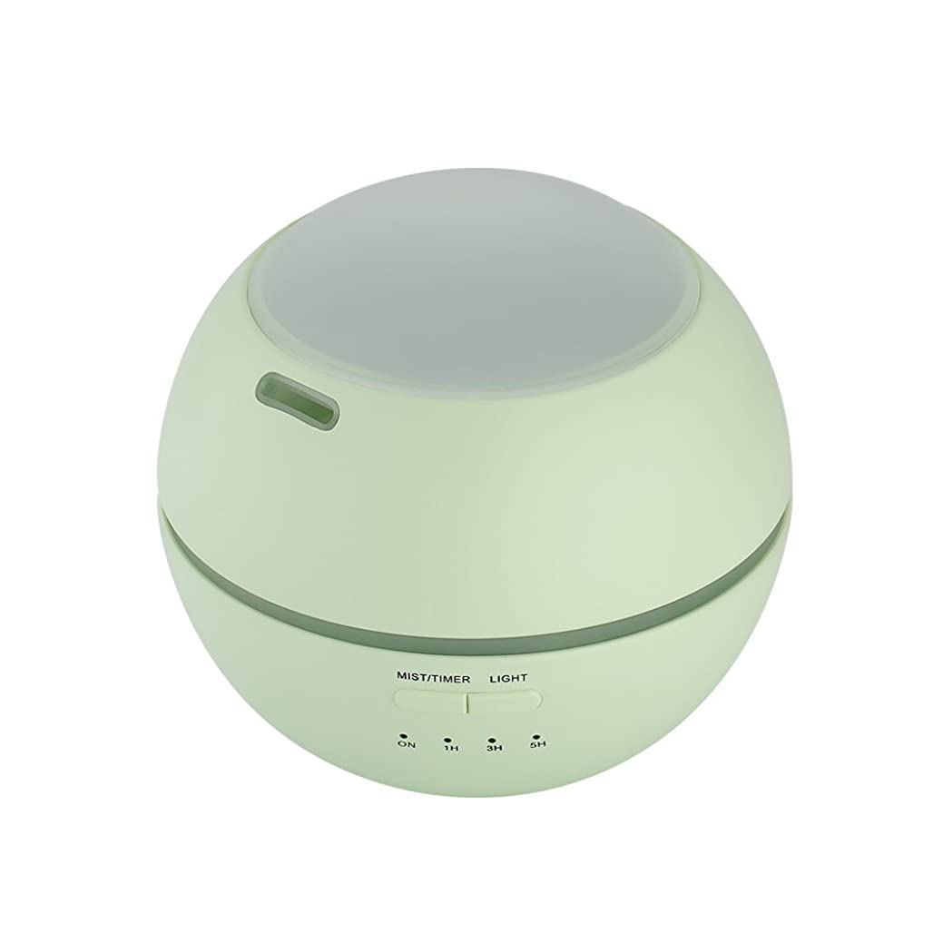 警告プランターオリエント小さい携帯用空気清浄器、家の赤ん坊部屋のための7色の変更の夜プロジェクター香りの空気加湿器,Green