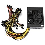 1800W Modular Mining Power Supply PSU for 8 GPU ETH Rig Ethereum Miner