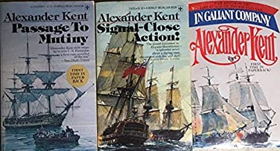 Alexander Kent 3 Book Set - In Gallant Company - Passage to Mutiny - Signal-Close Action!