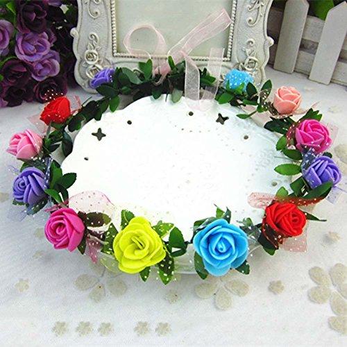 Motivo corona de flores de - accesorios para el cabello iluminación elegante...