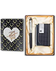 Celebr8 3 in 1 Corporate Gift Set with Crystal Pen, Business Card Holder & Greeting Card (Black)