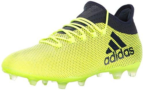 adidas Men's X 17.2 Firm Ground Cleats Soccer Shoe, Solar Yellow/Legend Ink/Legend Ink, (10 M US)