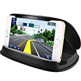 Cell Phone Holder for Car, Car Phone Mount, Durable Dash Windshield Car Phone Holder Cradle Silicone Pad Mats for iPhone 11 Pro Max XS XR X Samsung Galaxy Note 10 S10,Other GPS and Smartphones