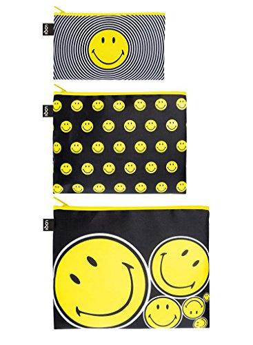 LOQI Artist Smiley Spiral, Dots, Spots Zip Pockets Personalausweishülle, 32 cm, Mehrfarbig (Multicolour)