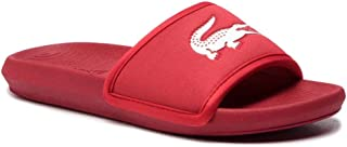 Lacoste Tongs Sport Croco Slide Rouge Homme