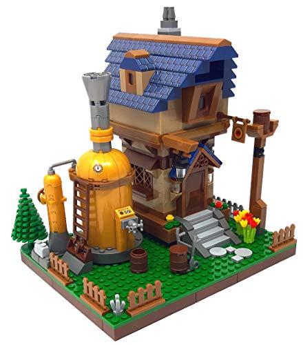 City Bausteine Brauerei mit Wirtshaus, Modular Building, 453 Klemmbausteine