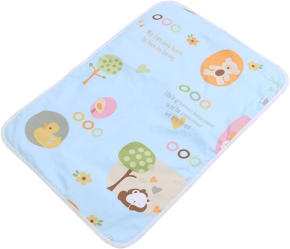 Huhushop Ultra-Soft Large Washable Baby Changing Pad Mats Baby Cotton Urine Mat Diaper Nappy Bedding Changing Cover Pad Disposable Sanitary Baby Infant Toddler Diaper Liners Covers(#A Blue Paradise)