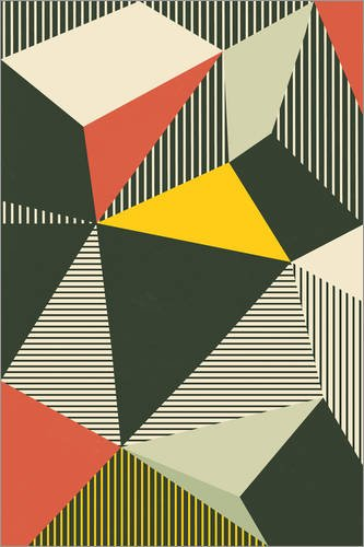 Poster 60 x 90 cm: Bauhaus von Pascal Deckarm - hochwertiger Kunstdruck, neues Kunstposter