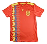 Camiseta Adulto Réplica de España. Producto Oficial Licenciado Mundial Rusia 2018. (Rojo, Talla L)