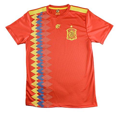 Camiseta Adulto Réplica de España. Producto Oficial Licenciado Mundial Rusia 2018.