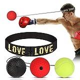 HOSPAOP Boxing Reflex Ball, Pallone da Boxe, Speed Training per Adulti/Bambini, Le Migliori Attrezzature da Boxe per Allenamento, coordinazione Occhio-Mano e Fitness