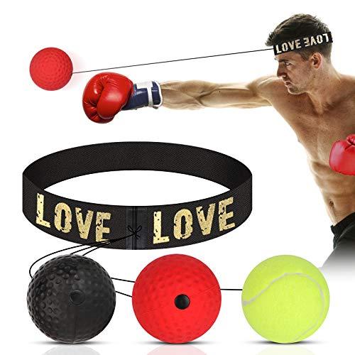 HOSPAOP Reflexball, Punch Boxing Ball, Home Boxen Training Ball, Geeignet für Erwachsene/Kinder, Beste Boxausrüstung für Training, Hand-Augen-Koordination und Fitness