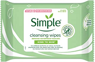 Simple Kind To Skin Cleansing Facial Wipes Facial Wipes No Added Perfume, No Harsh Chemicals, No Artificial Color And No A...