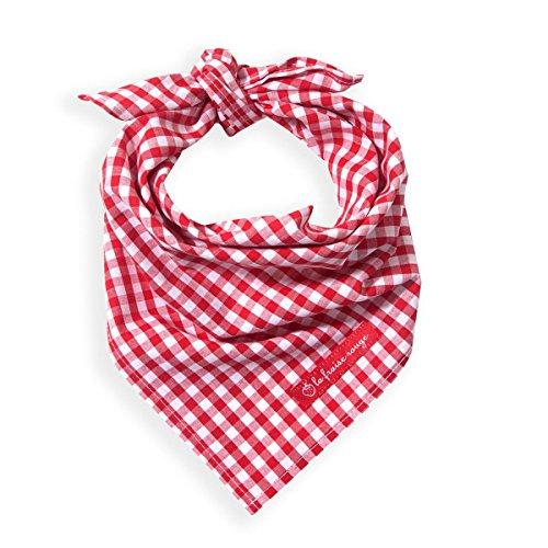 Halstuch mit Namen Vichy Karo rot mit Namen (Geschenkidee für Babys, Mädchen & perfekt für...