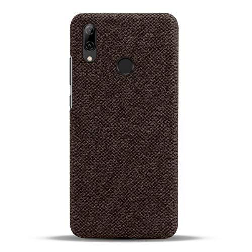 Suhctup Compatible con Huawei P Smart Plus 2019 / Honor 20 Lite/Nova 4 Lite Funda de Tela Tejida de Color Sólido TPU Forrada Premium de Carcasa Moda Antigolpes Anti-arañazos Protección Caso(Marrón)