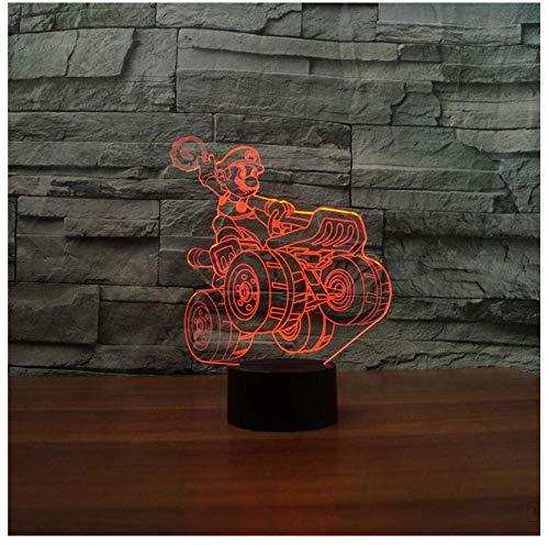 Spel oude man creatieve 3D nachtlicht kleurrijke touch afstandsbediening geschenk decoratie home persoonlijkheid de nieuwe kinderkamer