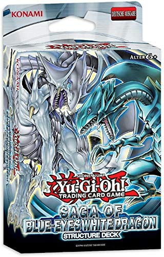 A YuGiOh Structure Deck Saga of Blue-Eyes White Dragon | DEUTSCH | Yu-Gi-Oh! Karten NEU & GÜNSTIG | + Arkero-G 100 Small Soft Sleeves japanische Kartenhüllen