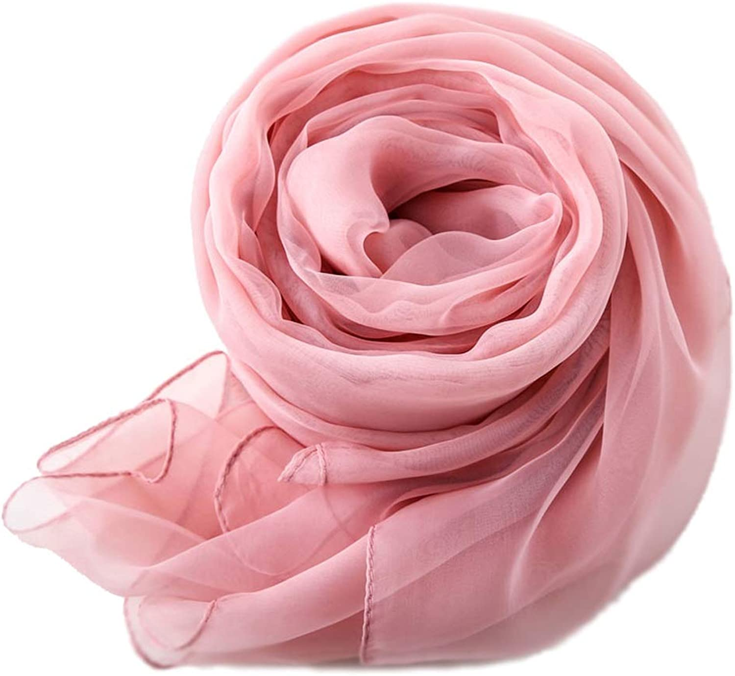 KTYX Joker Thin Section Scarf Summer MultiFunction Sunscreen Silk Long Red Scarf Shawl Scarf (color   Pink)
