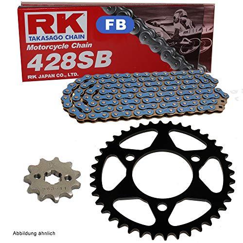 Kettensatz geeignet für Yamaha YZF R125 19-20 Kette RK FB 428 SB 130 offen BLAU 14/52